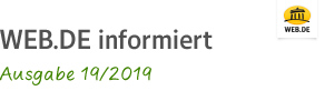 WEB.DE informiert Ausgabe 19/2019